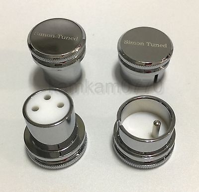 Rhodium Plated XLR male / Female Noise Reducing Caps - PTFE (Teflon) Insulation
