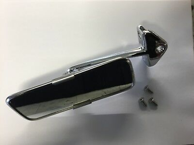 New Classic Mini Chrome Interior Rear View Mirror 3 Hole Fitting Ford Land Rover