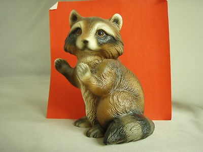 Vintage Raccoon figurine, World Gift, made in Japan, mint condition