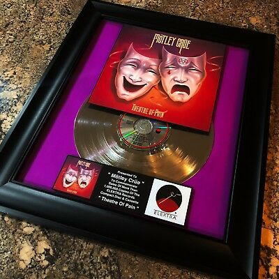 Motley Crue Theatre Of Love  Platinum Record Album Disc Music Award RIAA MTV