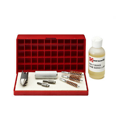 Hornady Case Care Kit with Universal Accessory Handle 3 Case-Neck Brushes & Lube