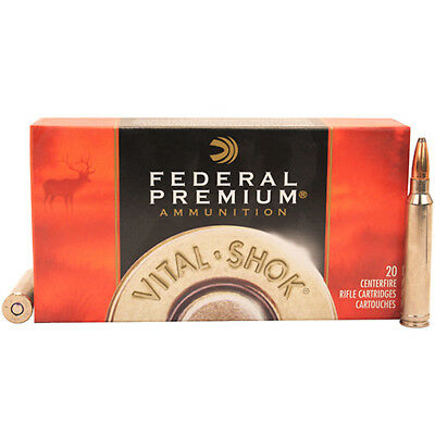 Federal Premium Vital Shock 300 WinMag Nickel Plated Rifle Cartridges - 20 Pack