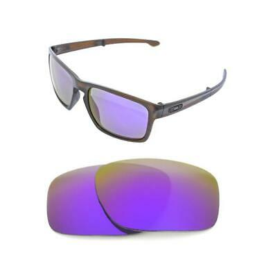 New Polarized Purple Replacement Lens For Oakley Sliver Round Sunglasses