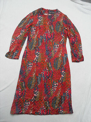 VINTAGE 1960s/70s ABSTRACT / PSYCHEDELIC PRINT DRESS