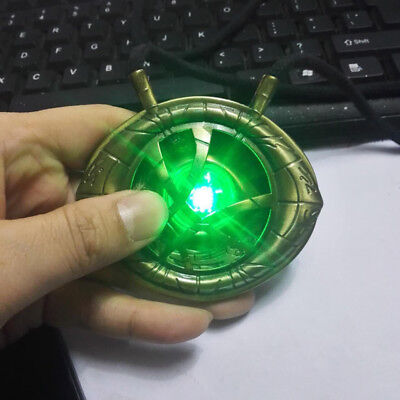 Dr Doctor Strange LED Light Necklace 1:1 Eye of Agamotto Cosplay Pendant Props