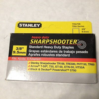 NEW STANLEY TRA706 3/8 Heavy Duty Staples (1,000 Pack)  Silver insulation carpet