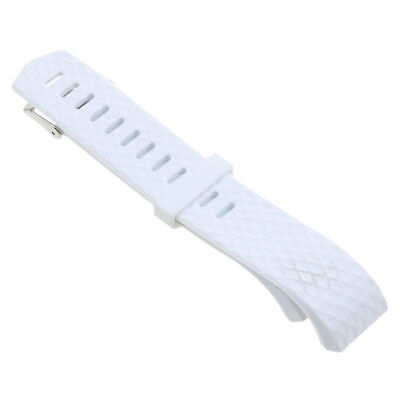 Replacement Silicone Sport Band Strap Clasp For Fitbit Charge 2 Watch White