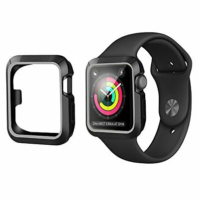 For Apple Watch CASE Series 1 2 3 Soft Cover Shock-Proof 42mm Black