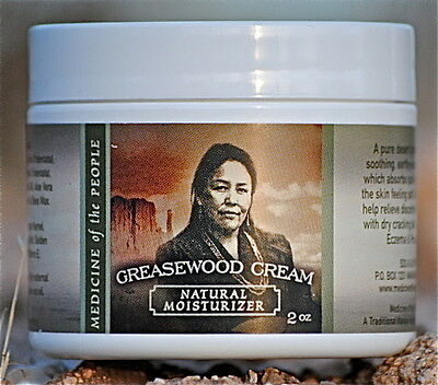 Navajo Medicine Of The People Greasewood Skin Cream Eczema Psoriasis 2oz POW WOW