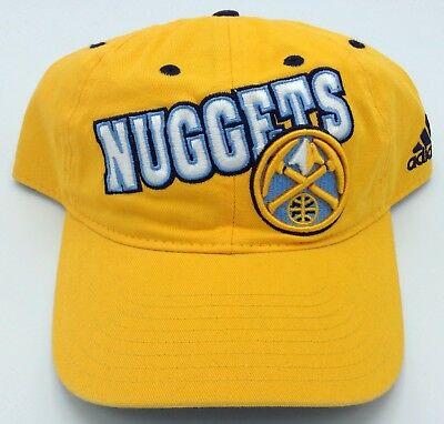 new styles 7f02e 32d17 NBA Denver Nuggets Adult Slouch Adjustable Fit Curved Brim Cap Hat Beanie  NEW!