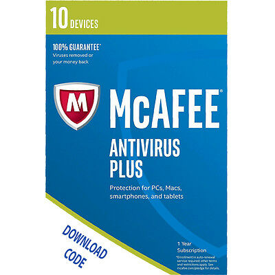 Mcafee Antivirus Plus - 10 Dispositivo (PC/Mac / Android/Smartphone)