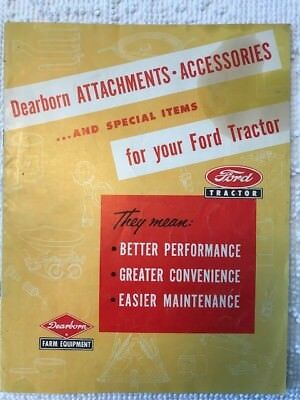1953 Ford/Dearborn Atachments and Accessories sales brochure (original)