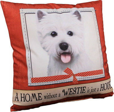 Westie Pillow 16x16 Polyester