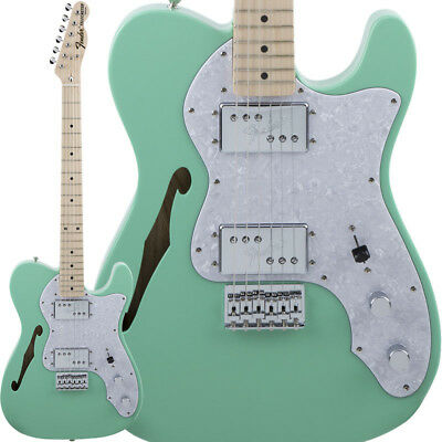 Fender Traditional 70s Telecaster Thinline Surf Green/Maple Made in Japan Import