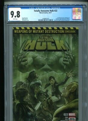 Totally Awesome Hulk #22 (2017) CGC 9.8 WHITE pages (1st Weapon H)