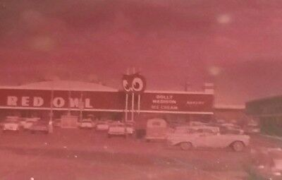 Red Owl Grocery Negative Photo 4x5 inch Dolly Madison Ice Cream in view, Millers