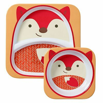 Skip Hop Child / Kids / Toddlers Zoo Plate And Bowl Tableware Set - Fox