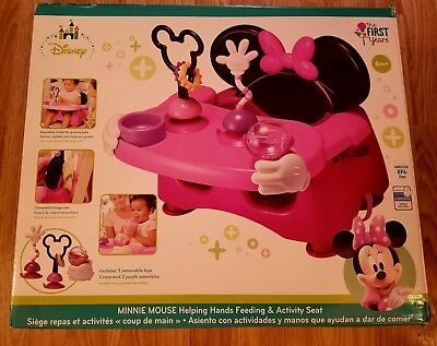 The First Years Minnie Mouse Booster Seat & Activity Set-New