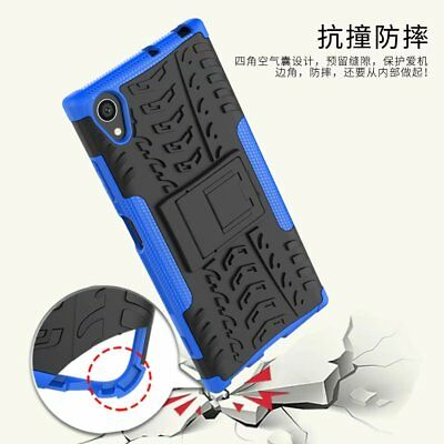 For Sony Xperia XA1 Plus Rugged Hybrid Armor Shockproof Hard Case Stand Cover