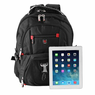 "Men's Nylon Laptop Backpack Travel School Pack 15.6"" Notebook Bag Waterproof EX"
