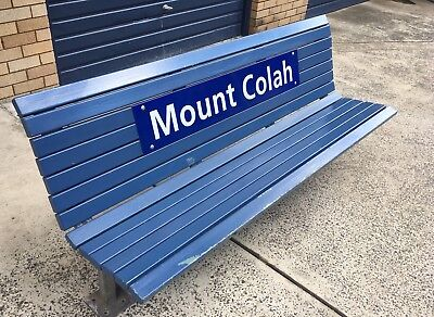 railway bench seat,station sign,platform ,free Sydney Delivery ,sydney train
