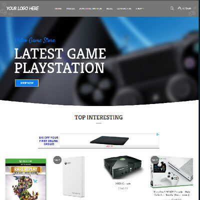 Video Game Affiliate Online Business Website For Sale! Mobile Friendly Added!