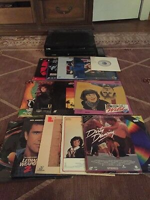 Pioneer LD-838D Laserdisc Player with remote lot w/ 14 discs! excellent shape!!