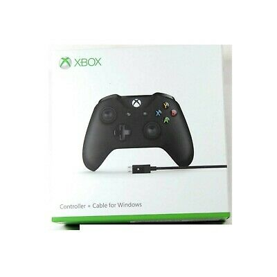 Microsoft Gamepad Xbox One Controller +Cable For Windows D-Pad Blk New 4N6-00003