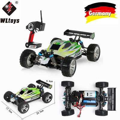 WLtoys A959-B 2.4G 1/18 4WD 70 KM/h Elektrische RTR Offroad Buggy RC Auto Q7I8