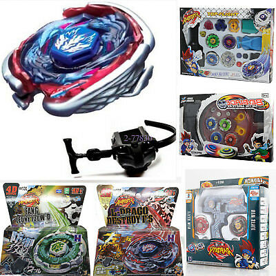 Fusion Top Metal Masters Rapidity Fight Rare Beyblade 4D Launcher Set Games Toy