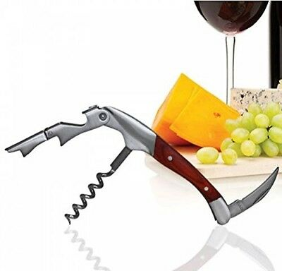 BarConic Wine Opener - Double Lever with Wood Handle. Brand New