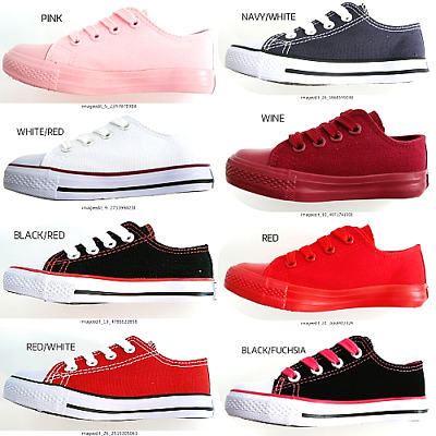 New Toddler Infant 8 Color Boys Girls #4-9 Canvas Classic Walking Comfort Shoes