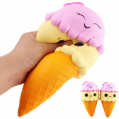Cone Soft Cute Squishy Squishies 22CM Ice Cream Slow Relief Toy Xmas Gift Fun 1*