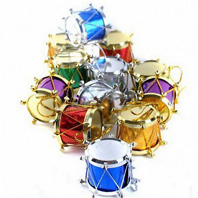 Christmas Drum Decor.12pcs Christmas Small Drum Hanging Pendants Ornaments Xmas