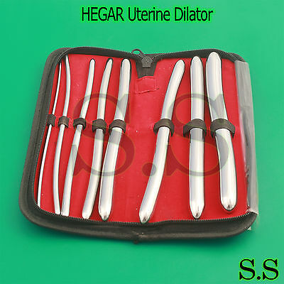 "8 Hegar Dilator Sounds Set 7.5"" Double Ended Gynecology Surgical Instrument"