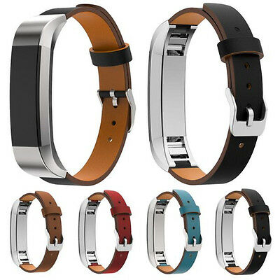 Genuine Leather Wrist Strap Band Bracelet For Fitbit Alta Tracker Replacement ZM