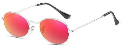 Stainless Steel Frame Small Round Shape Mirror Sunglass For Women