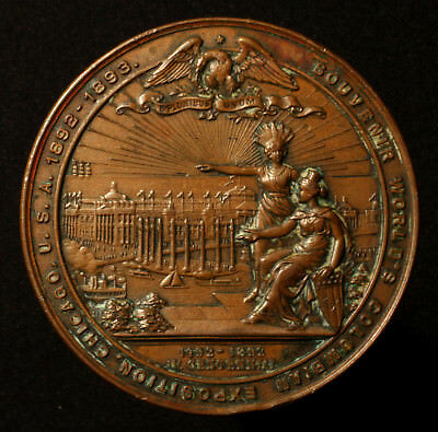 USA, Bronzemedaille 1892, Columbian Exposition Chicago, 400 J. Landung Kolumbus