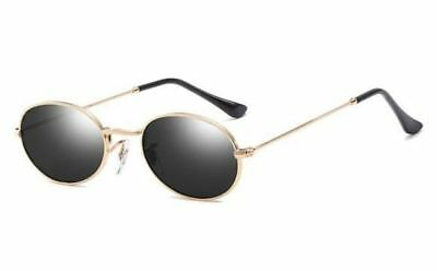 Round Shape Black Pink Color Metal Frame Small Size Sunglass For Women