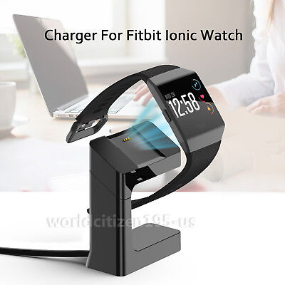 USB Cable Cradle Dock Magnetic Charger Stand Holder for Fitbit Ionic Watch