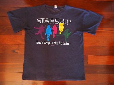 Vintage 80's STARSHIP Knee Deep in the Hoopla Shirt jefferson airplane concert