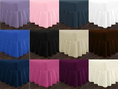 Luxury Fitted Valance Sheet Single Small Double King Super King Size Bed Sheets