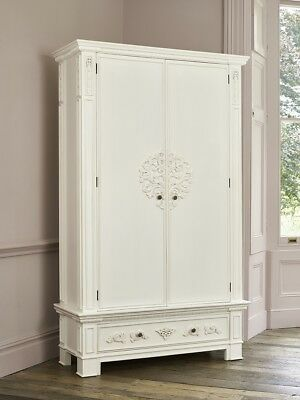 BESPOKE - Large Rococo French hand carved wardrobe armoire - Painted to order!