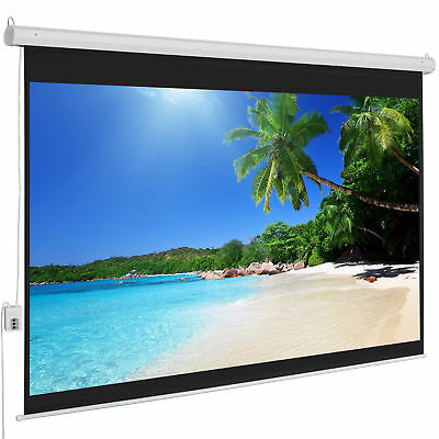 """Electric Motorized Drop Down HD Projection Projector Screen 100""""  Remote control"""