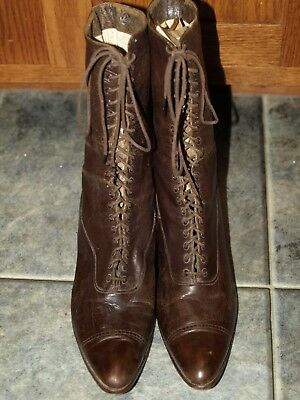Antique/vintage Women's Granny Lace-Up Boots Victorian/Steampunk-1517