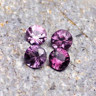 SPINEL-MADAGASCAR 2.21Ct TW 4PCS JEWELRY SET-NATURAL LAVENDER-PINK COLOR-VIDEO