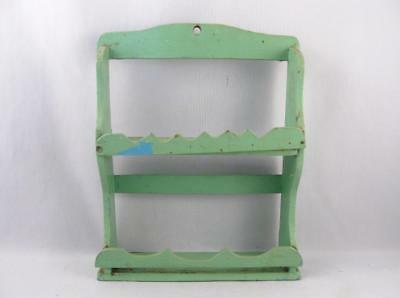 Antique/vintage Handmade Primitive Wall Spice Rack Shelf Storage Folk Art