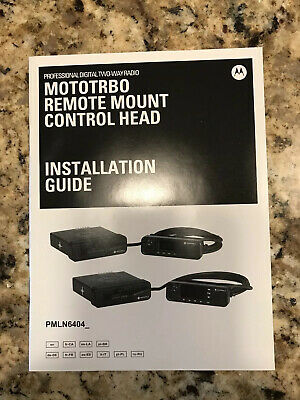 Motorola MOTOTRBO Remote Mount Adapter Kit PMLN6404A & 3M Remote Cable PMKN414