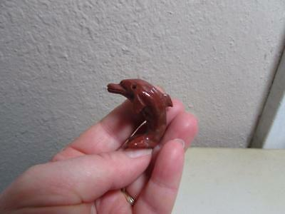 Dolphin, Hand carved Stone from the Andes of Peru Rich colored Miniature Dolphin