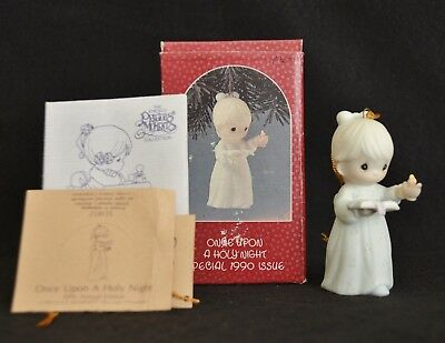 Precious Moments ~Once Upon A Holy Night~Ornament~ 1990~ 523852 Nib